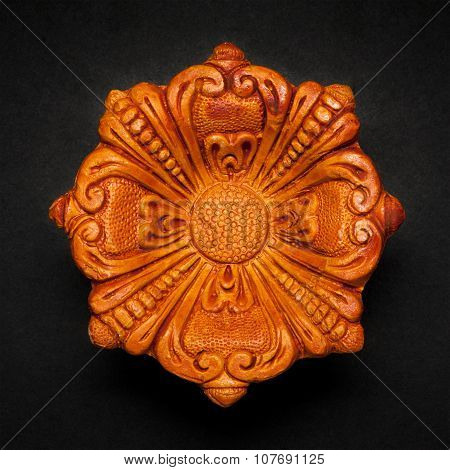 Top view of a beautiful designer clay lamp.
