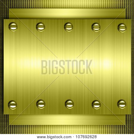 Gold metal background, gold polished metal, steel texture