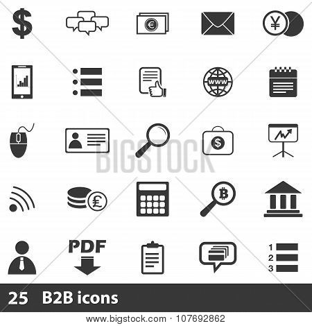 25 b2b basic icons set