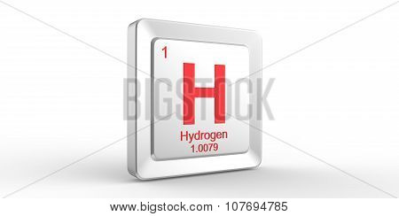 H Symbol 1 Material For Hydrogen Chemical Element Of The Periodic Table