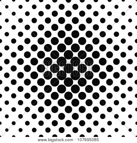 Simple abstract monochrome repeating dotted pattern