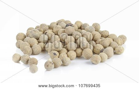 White Pepper. Isolated On A White Background.