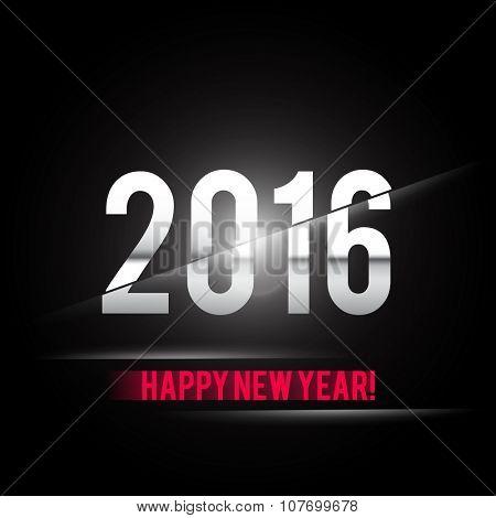 Happy New Year 2016 Card Vector Design