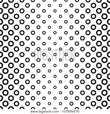Seamless black and white ring pattern