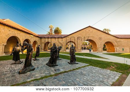 PALO ALTO, USA - OCT 22 2014: Stanford University and park. Stanford University is one of the world's leading research and teaching institutions. It is located in Stanford, California.