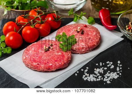 Raw Minced Burger Meat