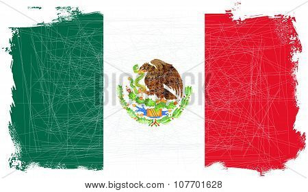 Mexican Flag Grunge