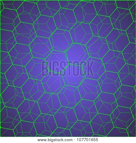 green hexagon cells