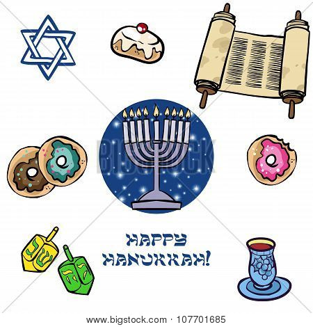Hanukkah Traditional Iconset
