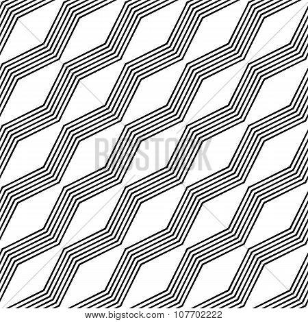 Monochrome seamless zigzag line pattern