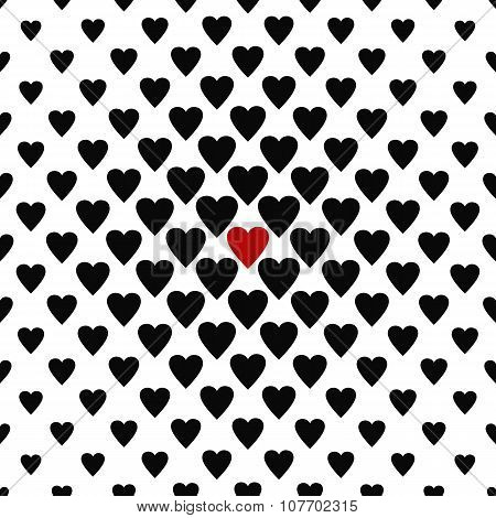The only one loved - seamless heart pattern