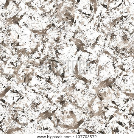 Grunge Seamless Texture, Black Watercolor Stains And Blots