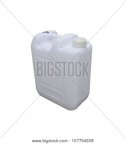 White Plastic Gallon Isolated On A White Background.