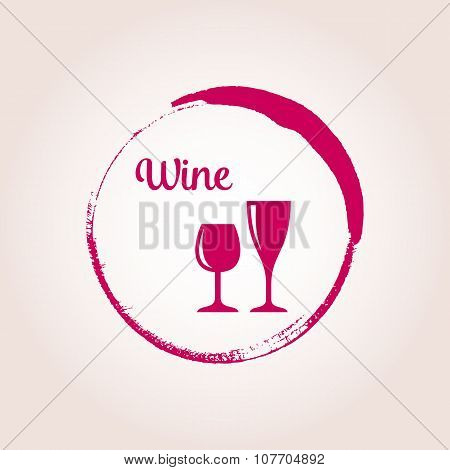 Red Vector Wine Emblem