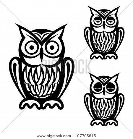 Owl simple icons set. Owl icons. Owl icons vector. Owl icons art. Owl icons web. Owl icons isolated. Owl icons black. Owl icons simple. Owl icons illustration. Owl icons shape. Owl set. Owl set art