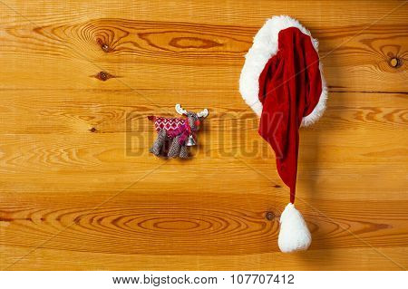 Santa Hat Hanging On The Wall