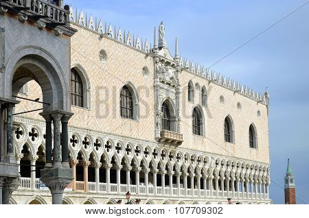 Detail Of Venice Doge's Palace