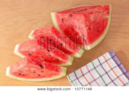 Watermelon Delicious Cut Diet Food Dessert