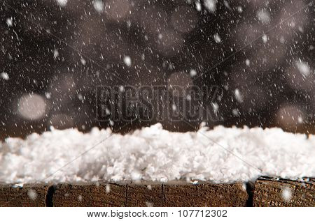Winter Background With Snow Fall