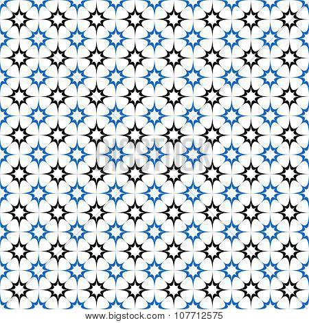Black blue seamless star pattern wallpaper