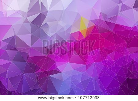 Violet abstract background consisting of angular shapes
