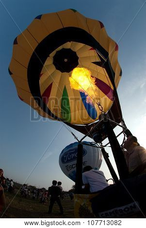 Hot Air Balloon In Thailand International Balloon Festival 2009.