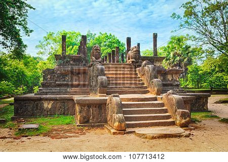 The Council Chamber in the world heritage city Polonnaruwa, Sri Lanka
