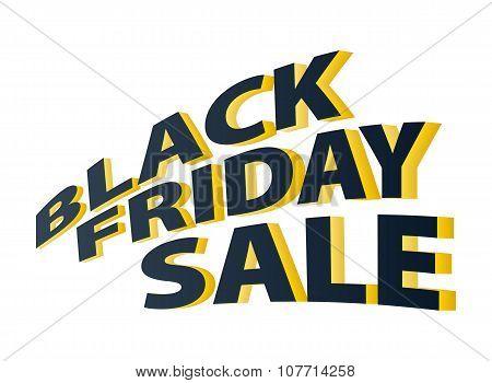 Black friday sale illustration. Advertising design.