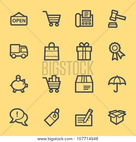 Shopping web icons