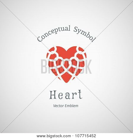 Vector Ornamental Heart Logo