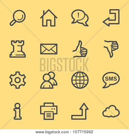 Web & internet icons set