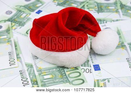 Santa Hat And Money