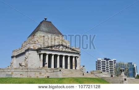 Shrine of Remembrance in Melbourne, Victoria