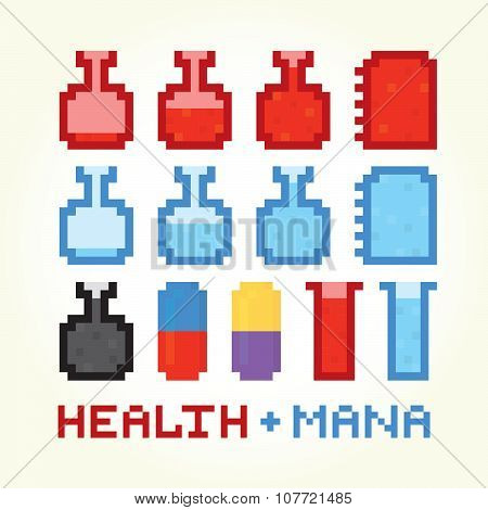 Health and mana icons