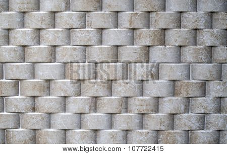 Decorative Relief Cladding Slabs Imitating Cylinders