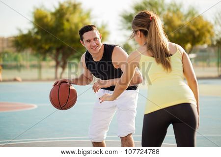 Playing Basketball With My Date
