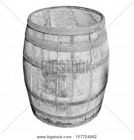 Black And White Wooden Barrel Cask