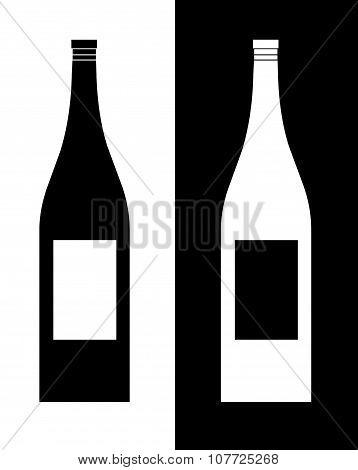 Vector Wine Bottles