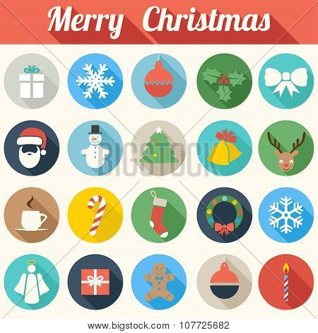 Colorful Christmas Icons - vector