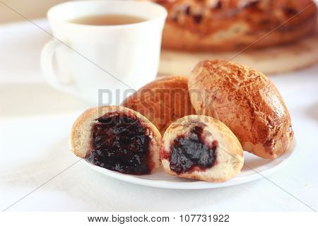 pastry with plum