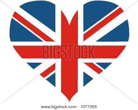 Great Britain Heart - Vector Illustration