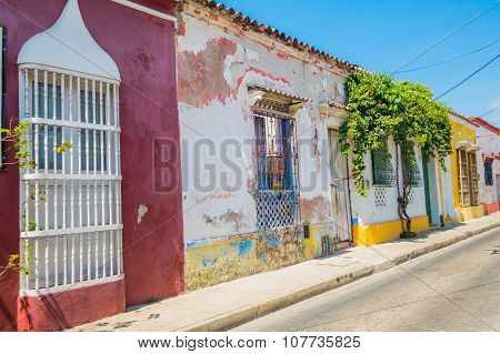 Colorful streets in Cartagena, Colombia