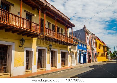 Beautiful streets in Cartagena, Colombia