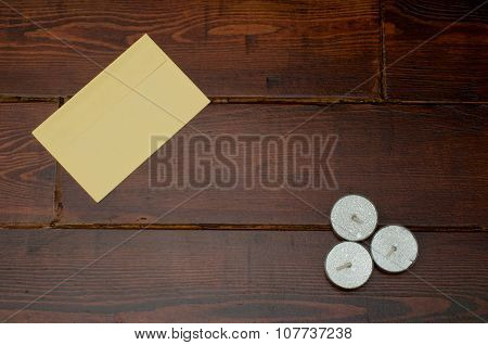 Yellow Envelope With Candles