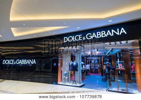 Dolce Gabbana Fashion Boutique Display Window. Hong Kong