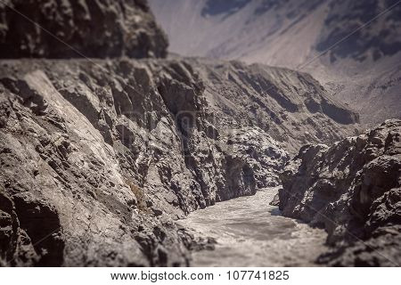 River and road in Karakorum