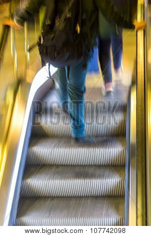 Man In Escalators