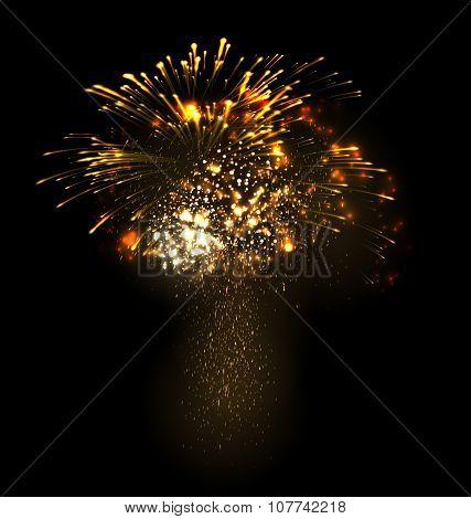 Festive Christmas grandiose firework explode