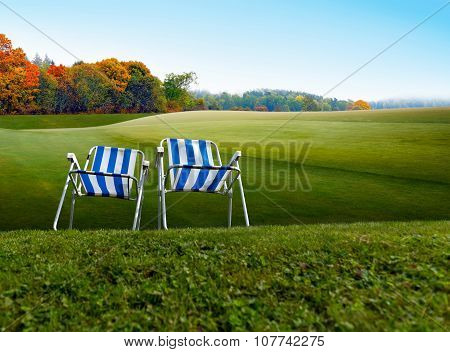 Two Old Fashioned Camping Chairs