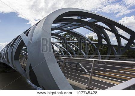 Hans Wilsdorf Bridge In Geneva, Switzerland